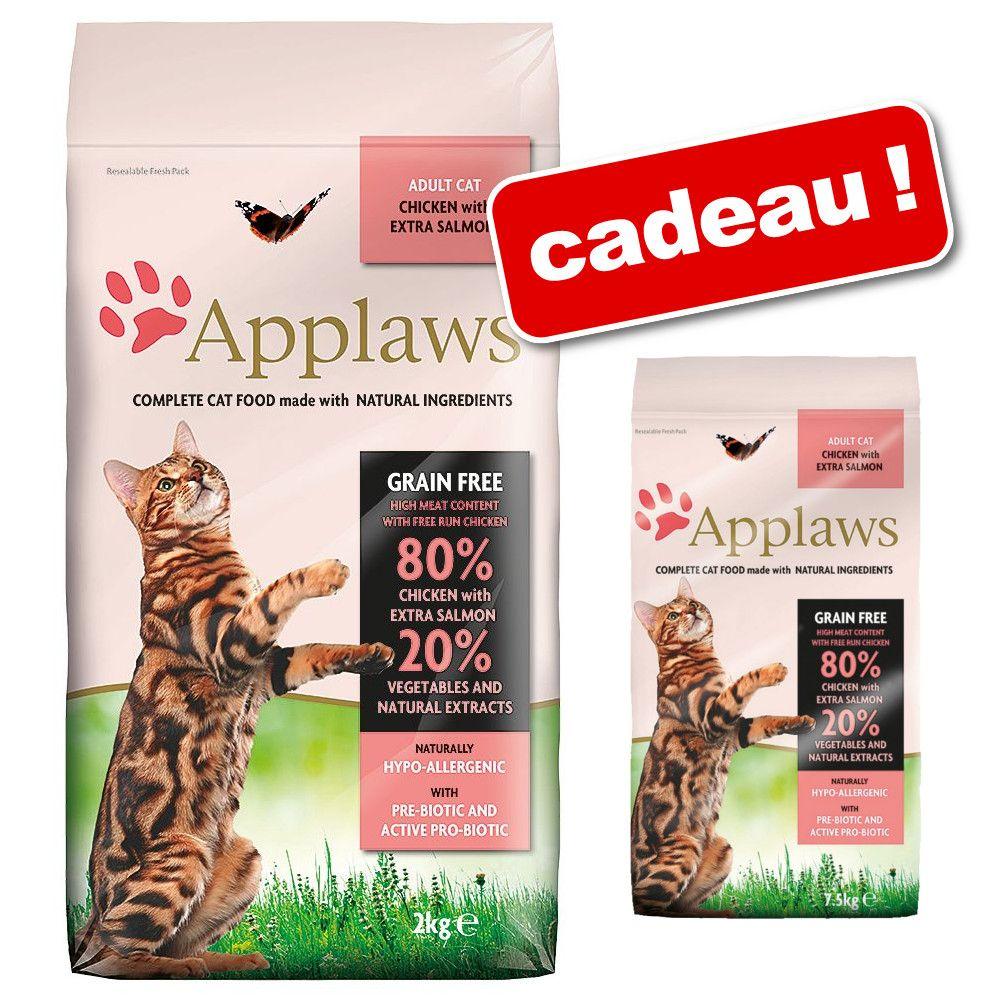 Croquettes Applaws 6 / 7,5 kg + 1,8 / 2 kg offerts ! - poulet, agneau (7,5 kg + 1,5 kg)