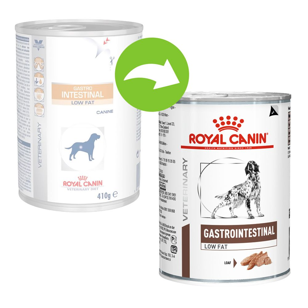 Royal Canin Gastro Intestinal Low Fat Veterinary Diet - 24 x 410 g - Pack Ahorro