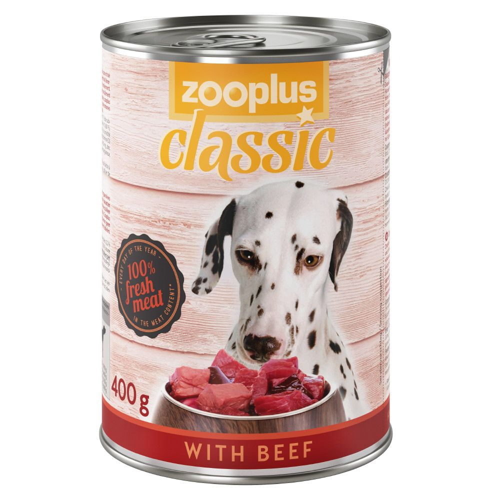 12x400g Mixed Pack Chicken/Game&Beef zooplus Classic Wet Dog Food