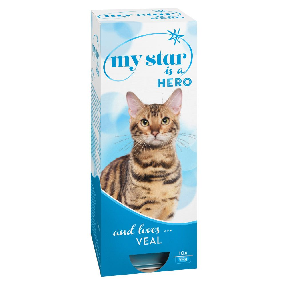 My Star is a Hero Wet Cat Food - Veal - Saver Pack: 30 x 90g