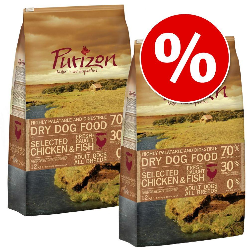 Foto 2 x 12 kg Purizon - Adult Selvaggina & Coniglio - senza cereali Purizon Dog Set Risparmio Purizon