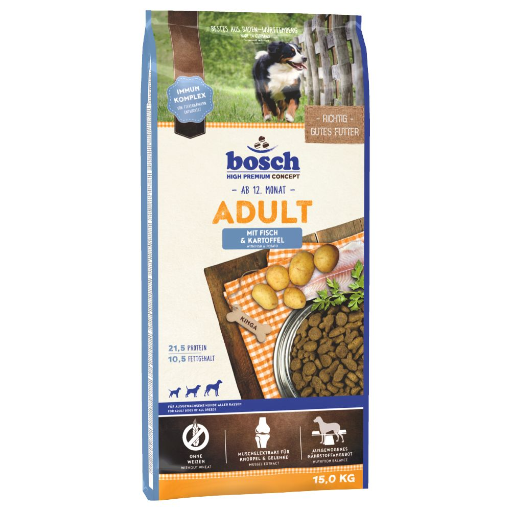 Bosch Adult Fish & Potato Dry Dog Food - 15kg