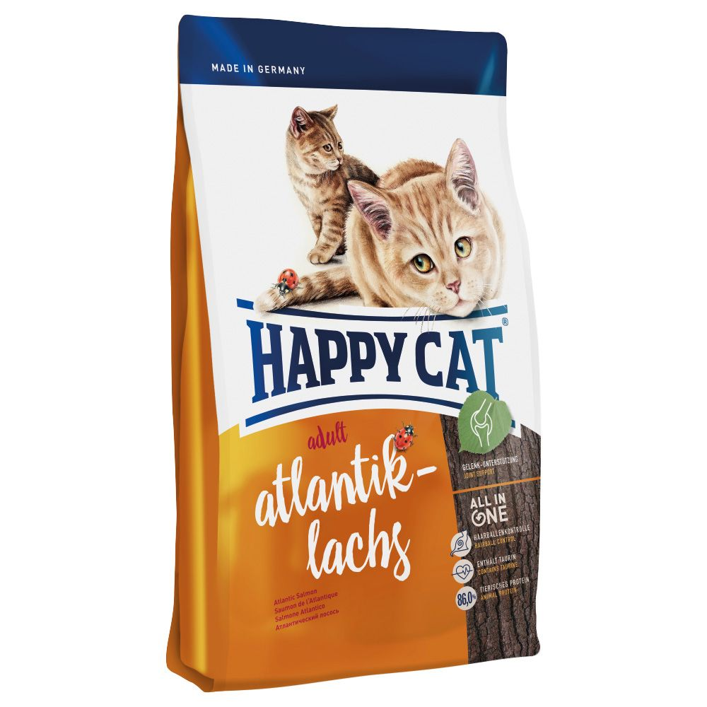 INOpets.com Anything for Pets Parents & Their Pets Happy Cat Adult Salmon Dry Food - 1.4kg