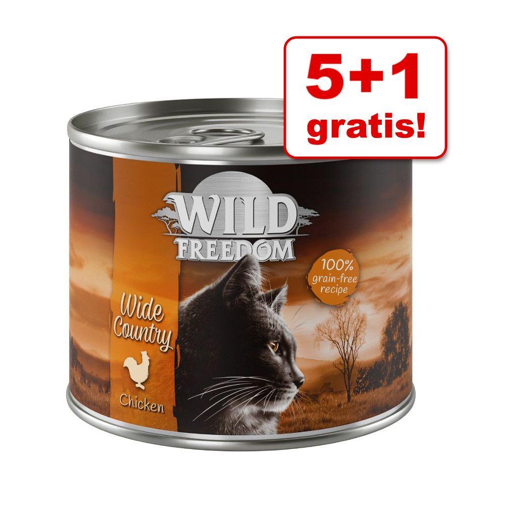 5 + 1 gratis! Wild Freedom, 6 x 200 g - Green Lands - Jagnięcina i kurczak