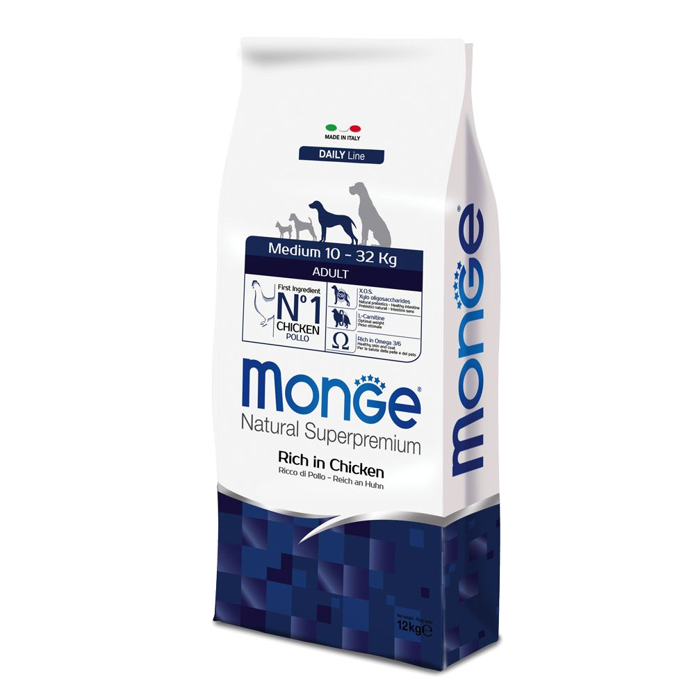 Foto Monge Super Premium Adult Medium - 2 x 12 kg - prezzo top! Monge Superpremium Crocchette Monge