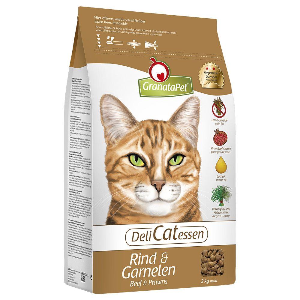 GranataPet DeliCatessen Beef & Shrimps Dry Cat Food - 2kg