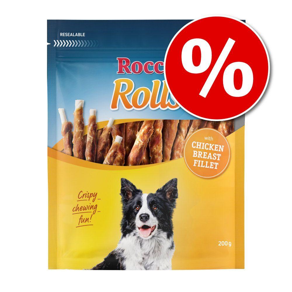 Lot Rocco Rolls pour chien - filet de canard (12 x 200 g)