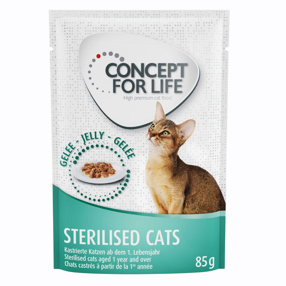 Concept for Life Sterilised Cats w galarecie - 12 x 85 g