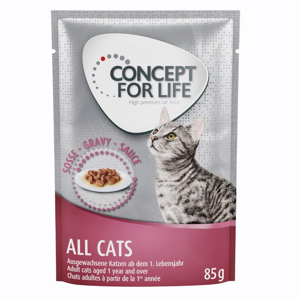Concept for Life All Cats – in Gravy - 48 x 85g