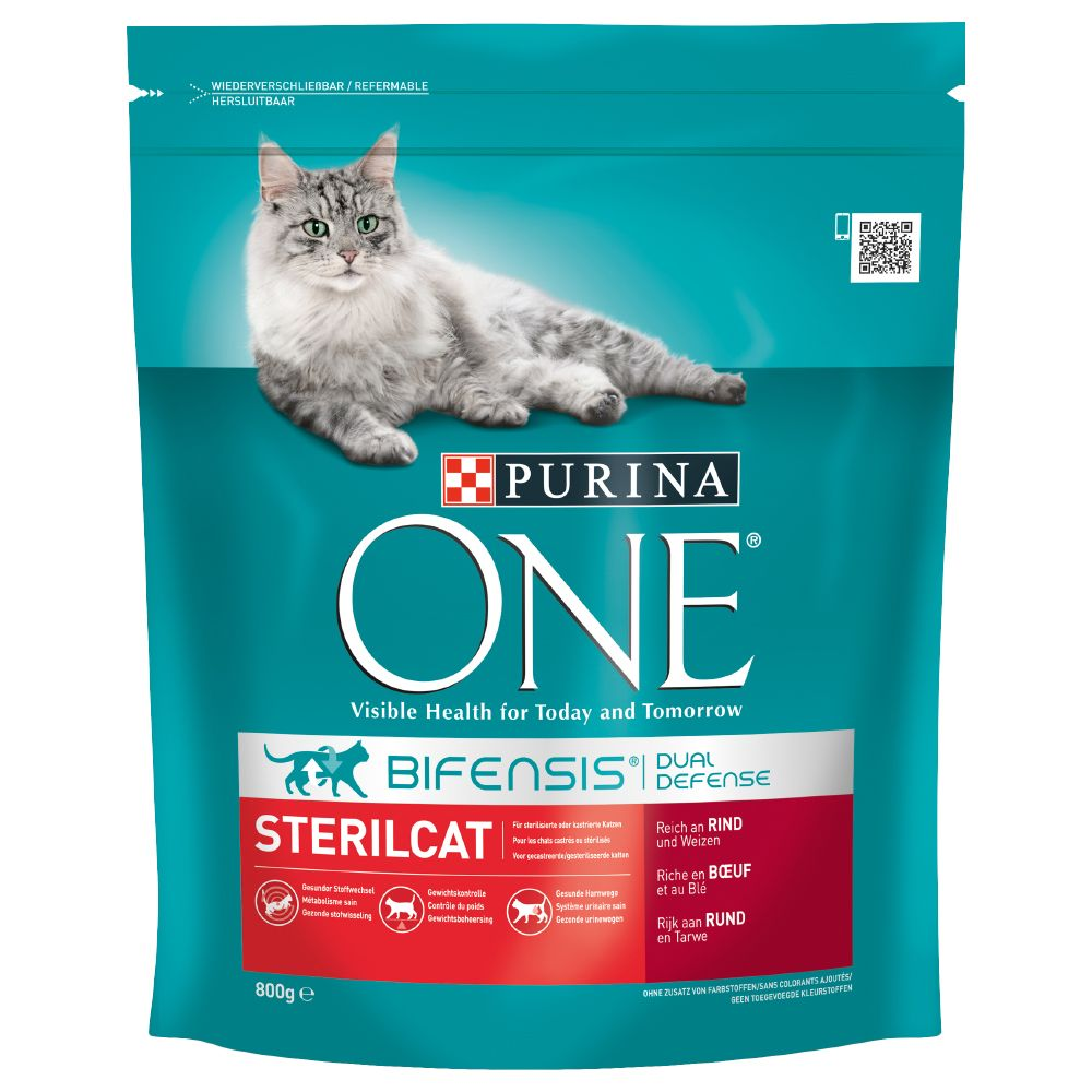 Purina ONE Sterilcat Beef & Wheat Dry Cat Food - 1.5kg