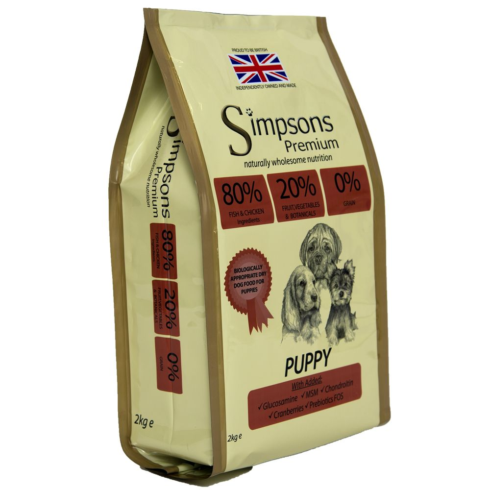 Simpsons Premium 80/20 Puppy - Mixed Fish & Chicken - Economy Pack: 2 x 12kg