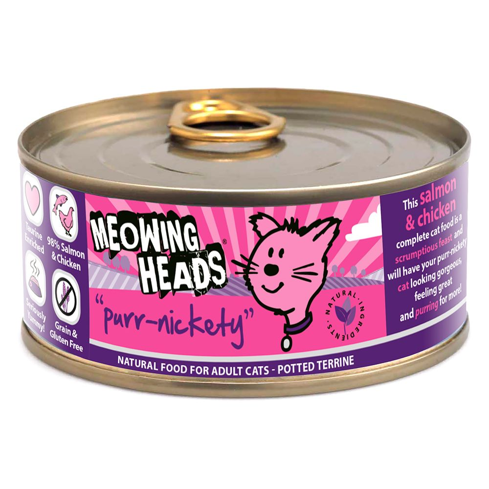 Meowing Heads Purr-Nickety Adult Salmon