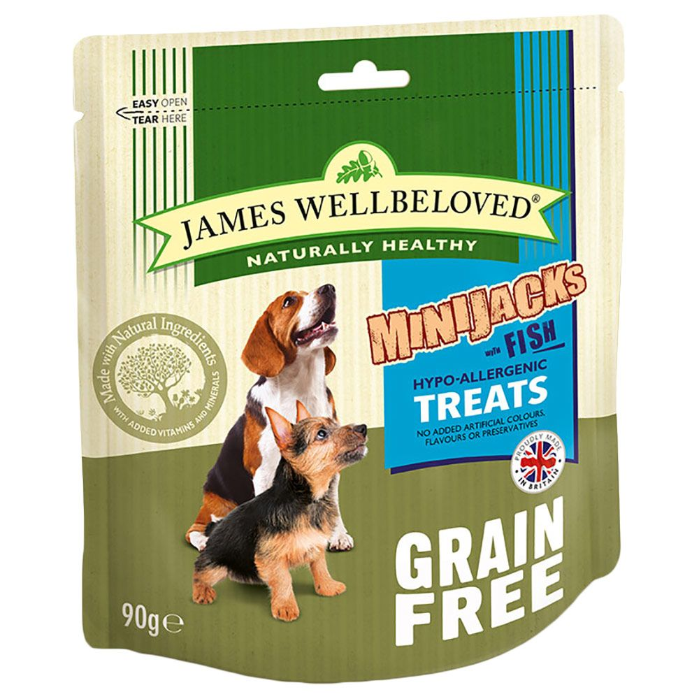 James Wellbeloved MiniJacks Dog Treats - Fish - 90g