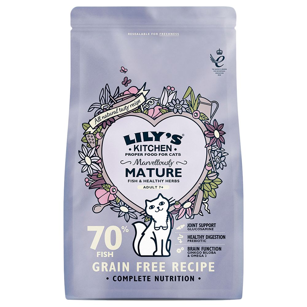 Lily's Kitchen Marvellously Mature Complete Dry Food for Cats - Economy Pack: 3 x 800g