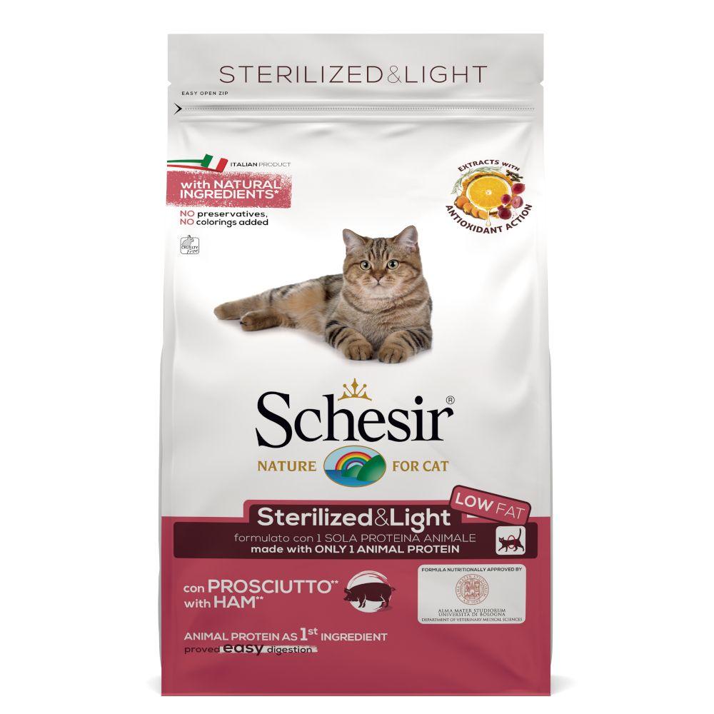 Schesir Sterilized & Light med skinka - Ekonomipack: 3 x 1,5 kg