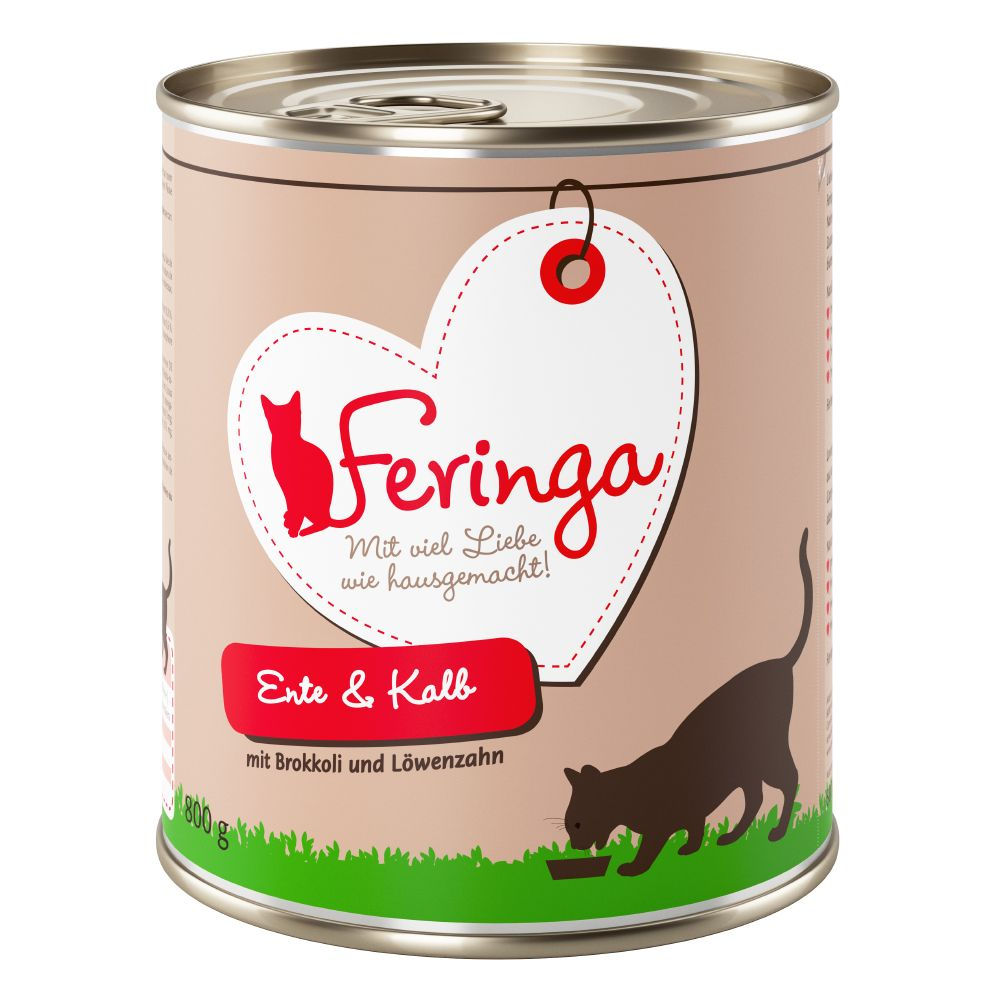 12 x 800g Feringa Classic Meat Menu Wet Cat Food