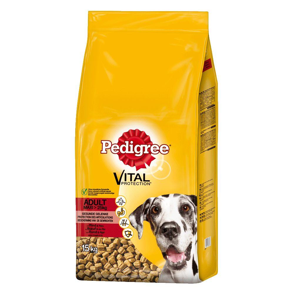 Pedigree Adult Maxi mit Rind & Reis Trockenfutter für Hunde - 15 kg