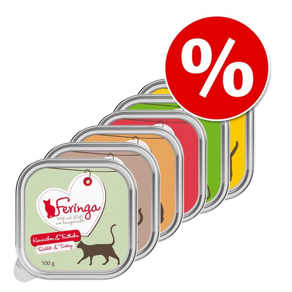 Mieszany pakiet próbny Feringa w miseczkach 6 x 100 g w super cenie! - Mieszany pakiet próbny II (6 smaków)