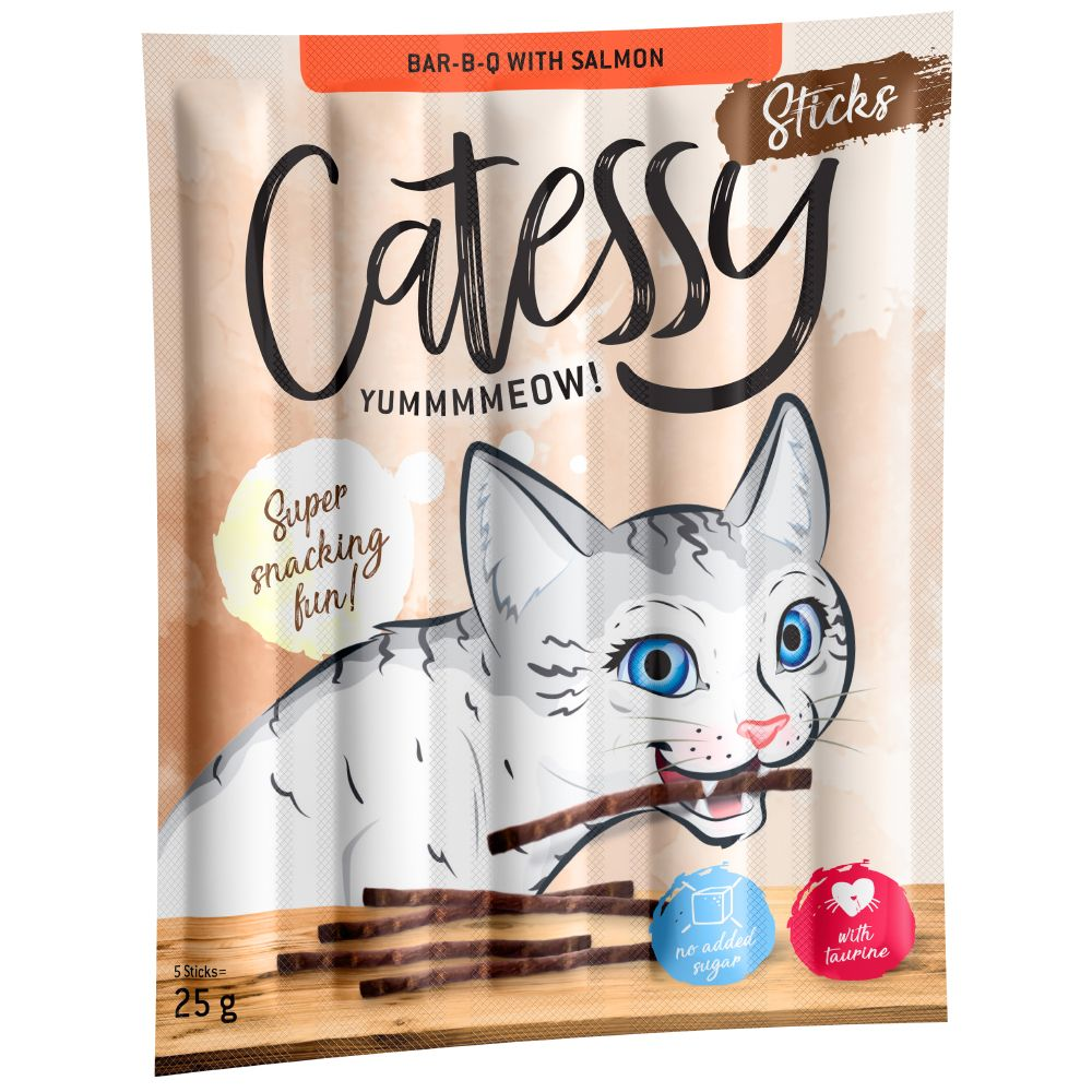 10 bâtonnets à mâcher Catessy, saumon, truite - Friandises pour chat