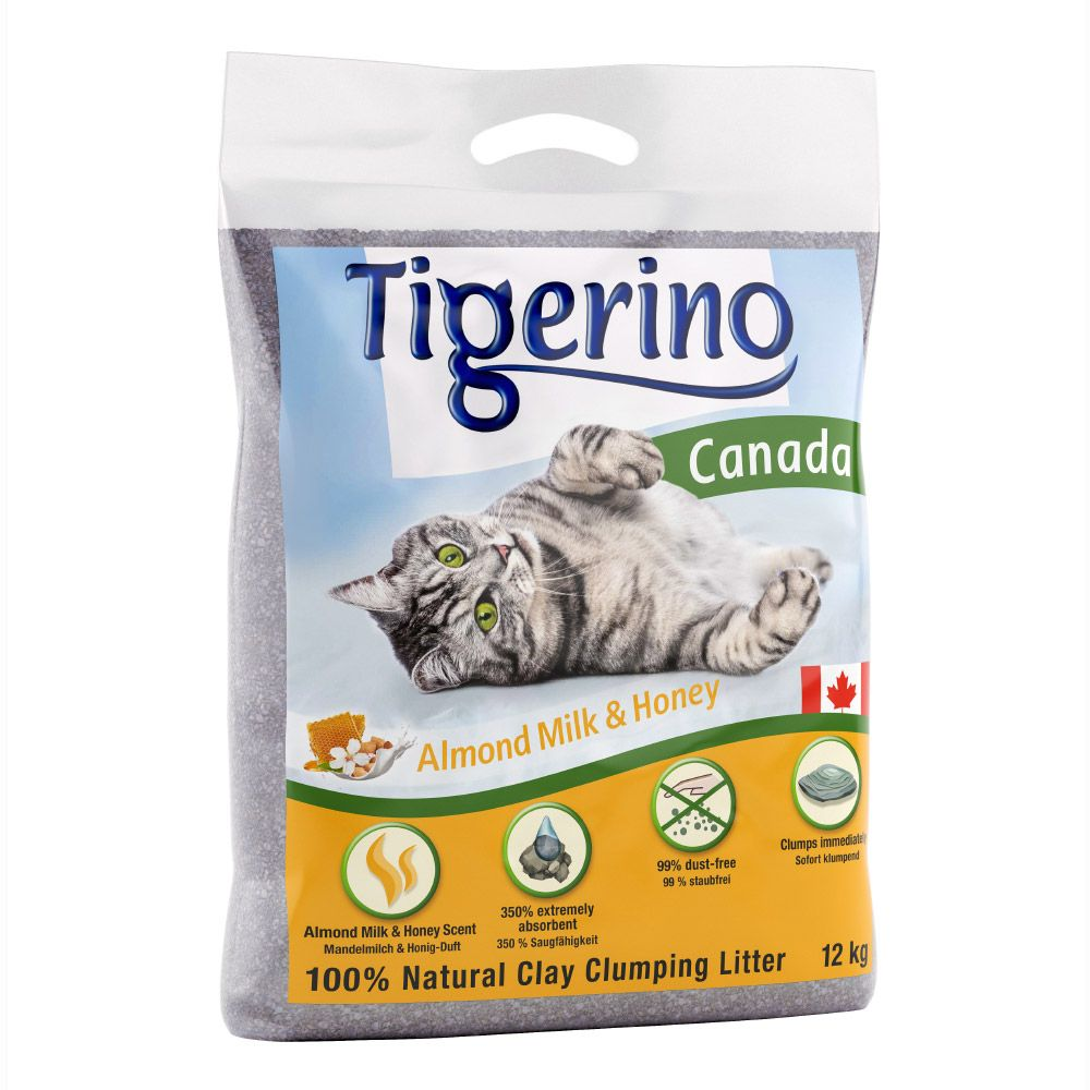 12kg Almond Milk & Honey Scented Tigerino Canada Cat Litter