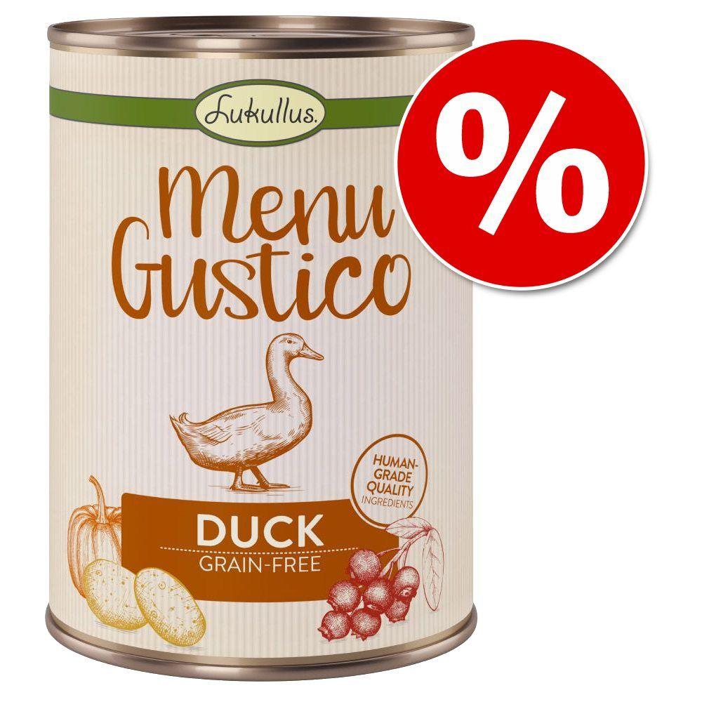 6 x 400 g Lukullus Menu Gustico zum Probierpreis! - Huhn mit Brokkoli, Zucchini und Birne