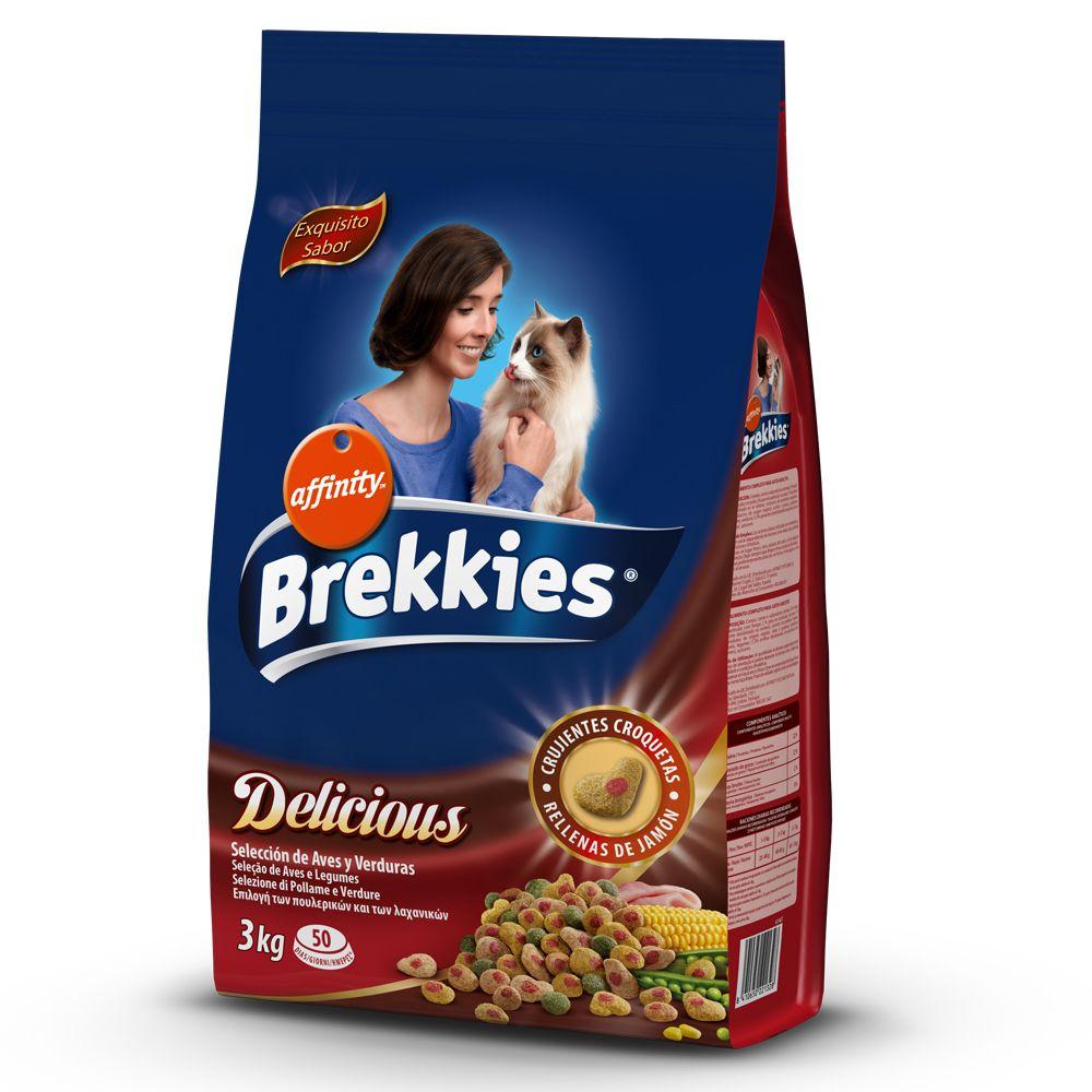 Image of Brekkies Delicious Pollo, Tacchino & Quaglia - % 3 x 3 kg