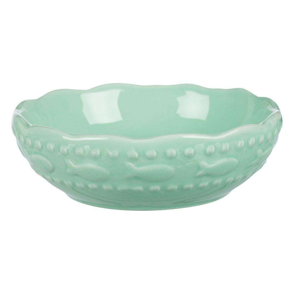 Trixie keramikskål med fiskmotiv - 250 ml, Ø 13 cm - mint