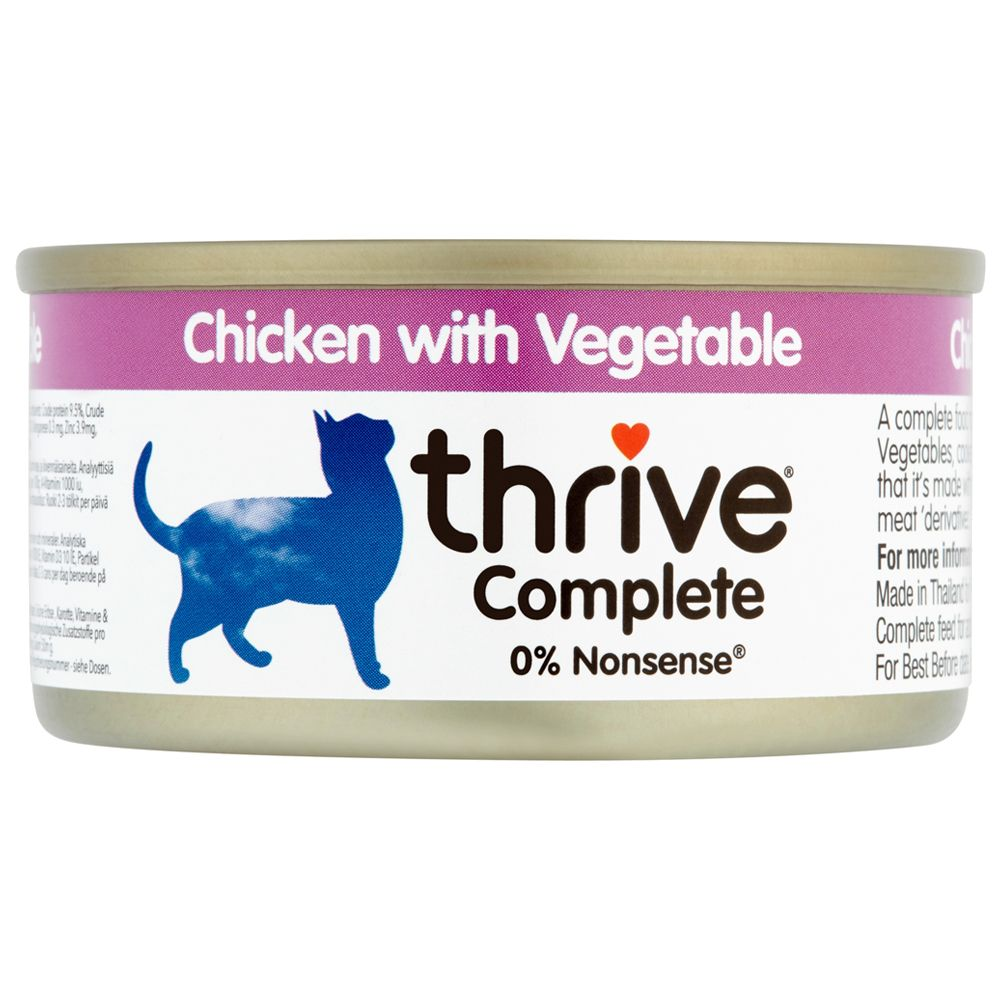 6x75g Chicken with Vegetables thrive Complete Wet Cat Food