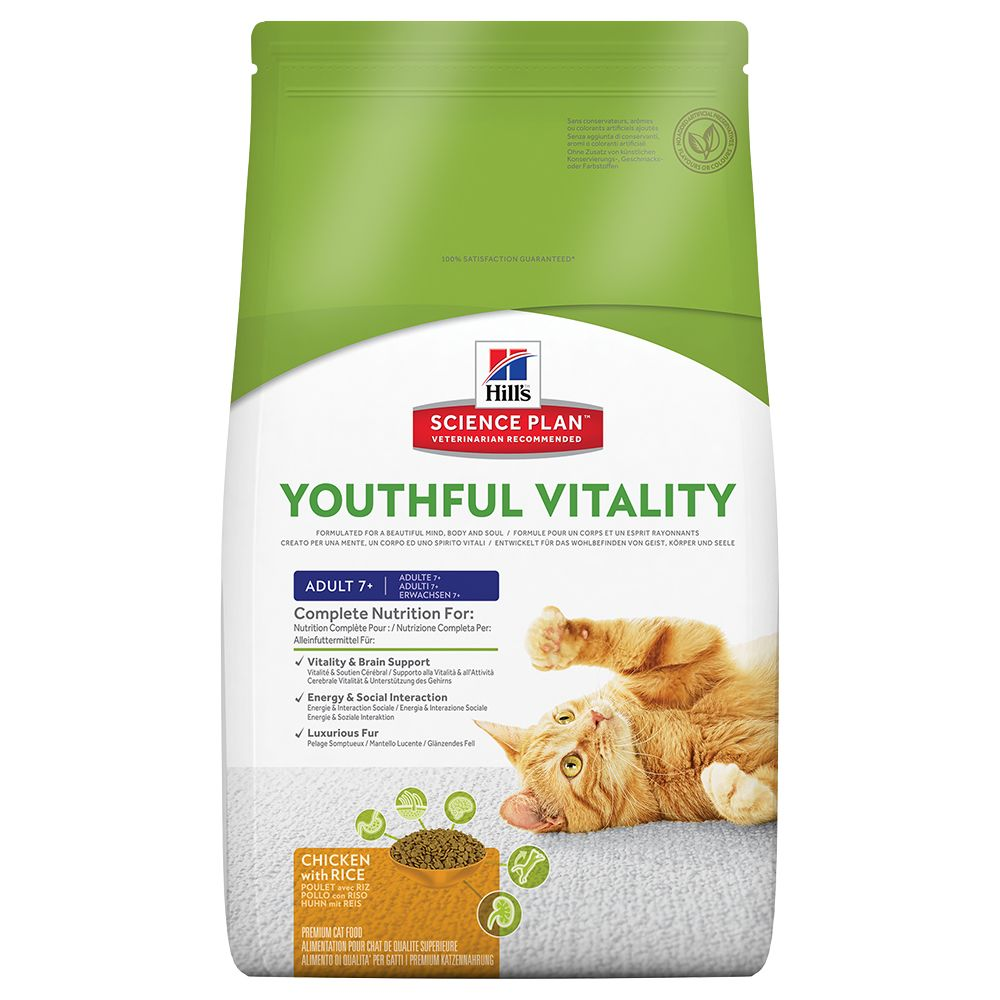 This Hill's Feline 7+ Youthful Vitality with Chicken & Rice is recommended by vets and has been specially formulated to help support optimal wellbeing and vita...