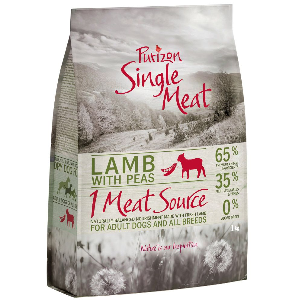 12kg Purizon Grain-Free Lamb with Peas Single Meat
