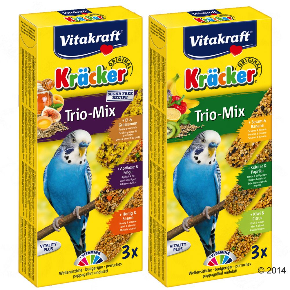 Vitakraft Kräcker Wellensittiche Trio-Mix - 2 x...