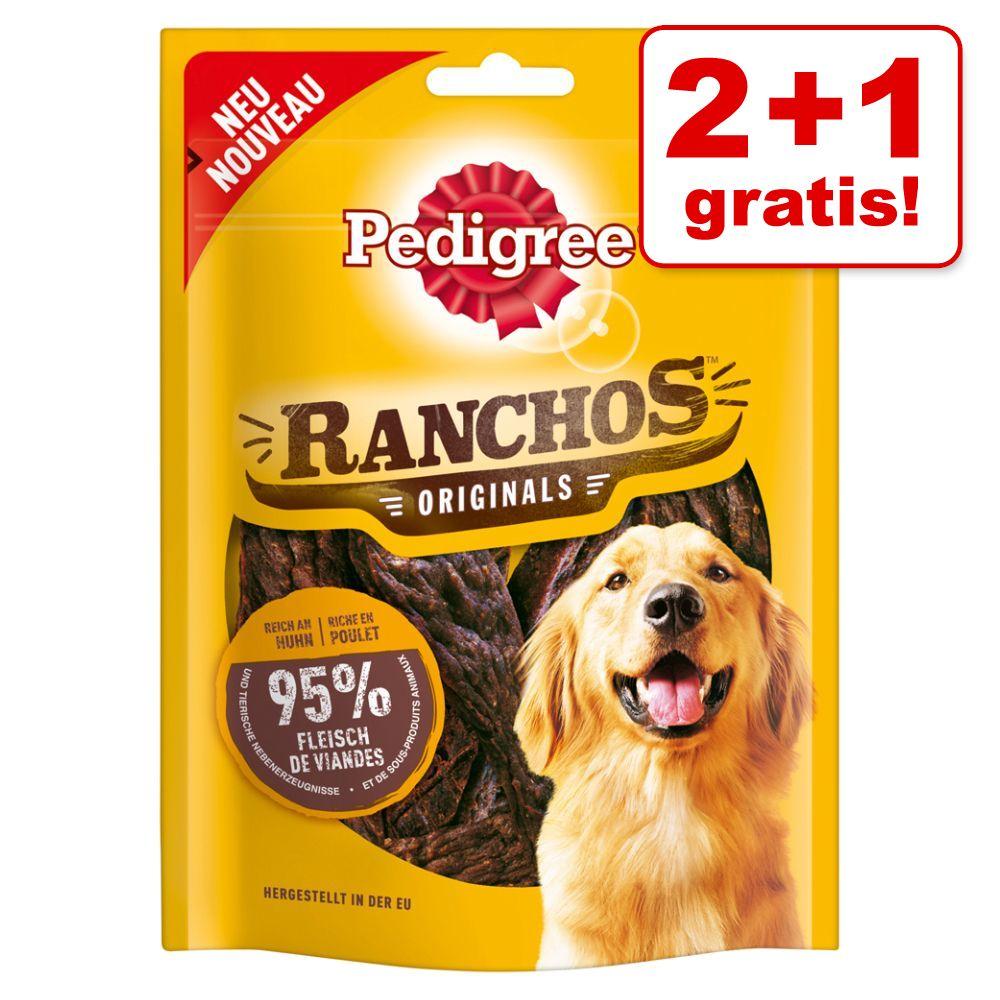 2 + 1 på köpet! 3 x Pedigree hundgodis - Ranchos med nötkött (3 x 70 g)