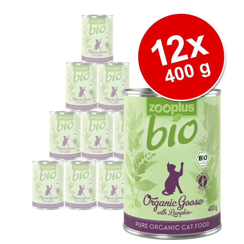 Ekonomipack: zooplus Bio 12 x 400 g - Eko-anka med zucchini