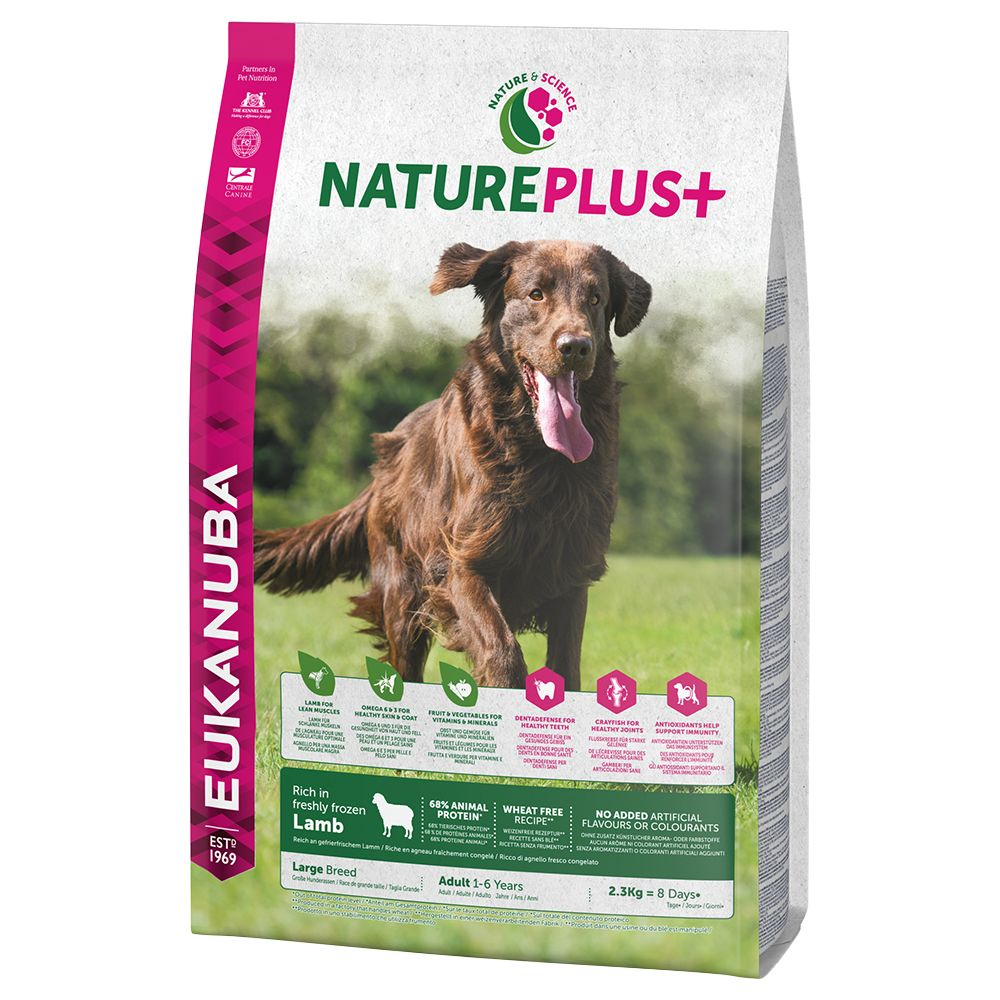 14kg Eukanuba NaturePlus+ Dry Dog Food + Snuggle Blanket Free