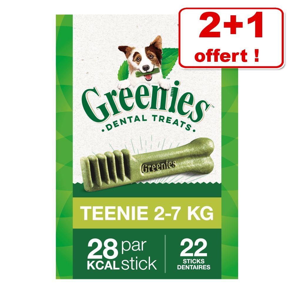 3x340g Teenie Soin dentaire Greenies friandises pour chien