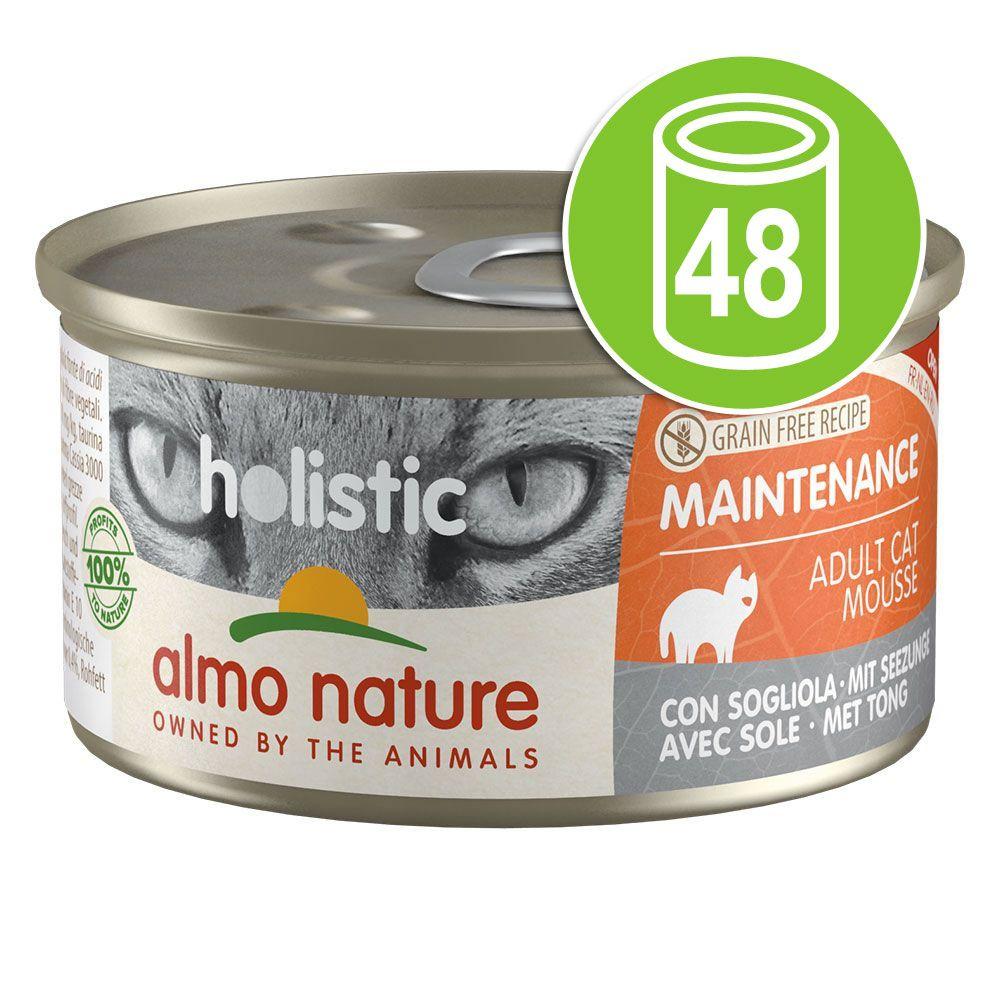 48x85g Maintenance jambon Almo Nature Holistic - Sachet pour chat