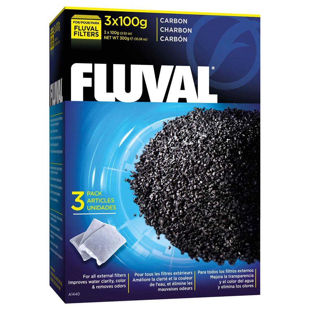 Fluval Carbon aktivt kol - 3-pack, 300 g