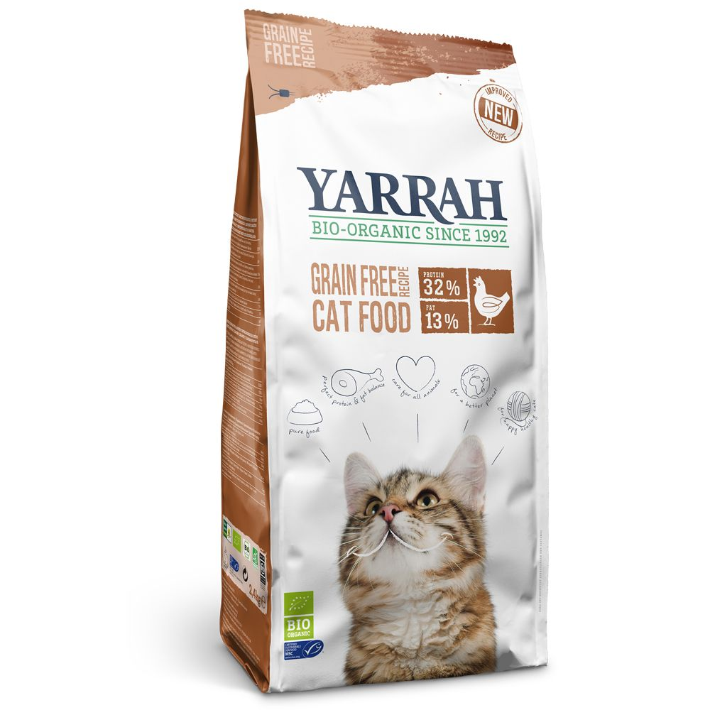 Grain-Free Chicken & Fish Yarrah Organic Dry Cat Food