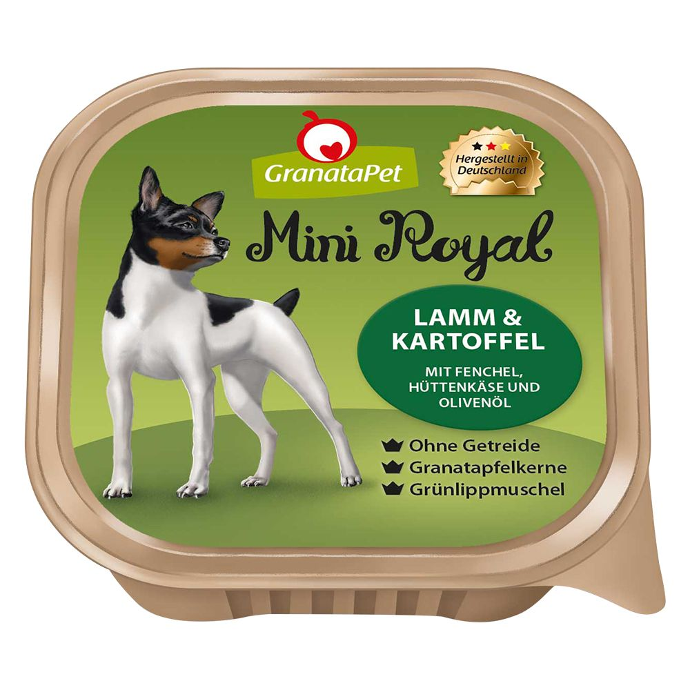 GranataPet Mini Royal 6 x 150 g portionsform - Anka & gås