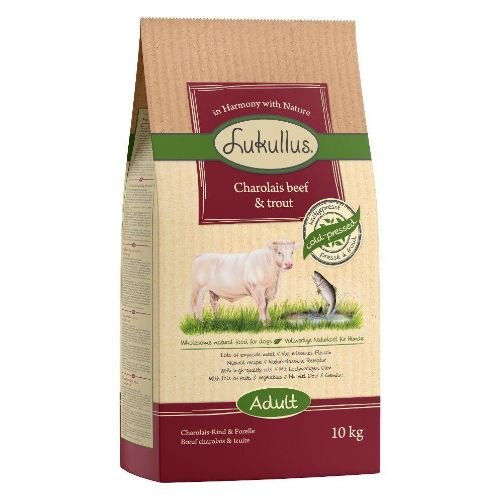 10kg Lukullus bœuf Charolais, truite - Croquettes pour chien