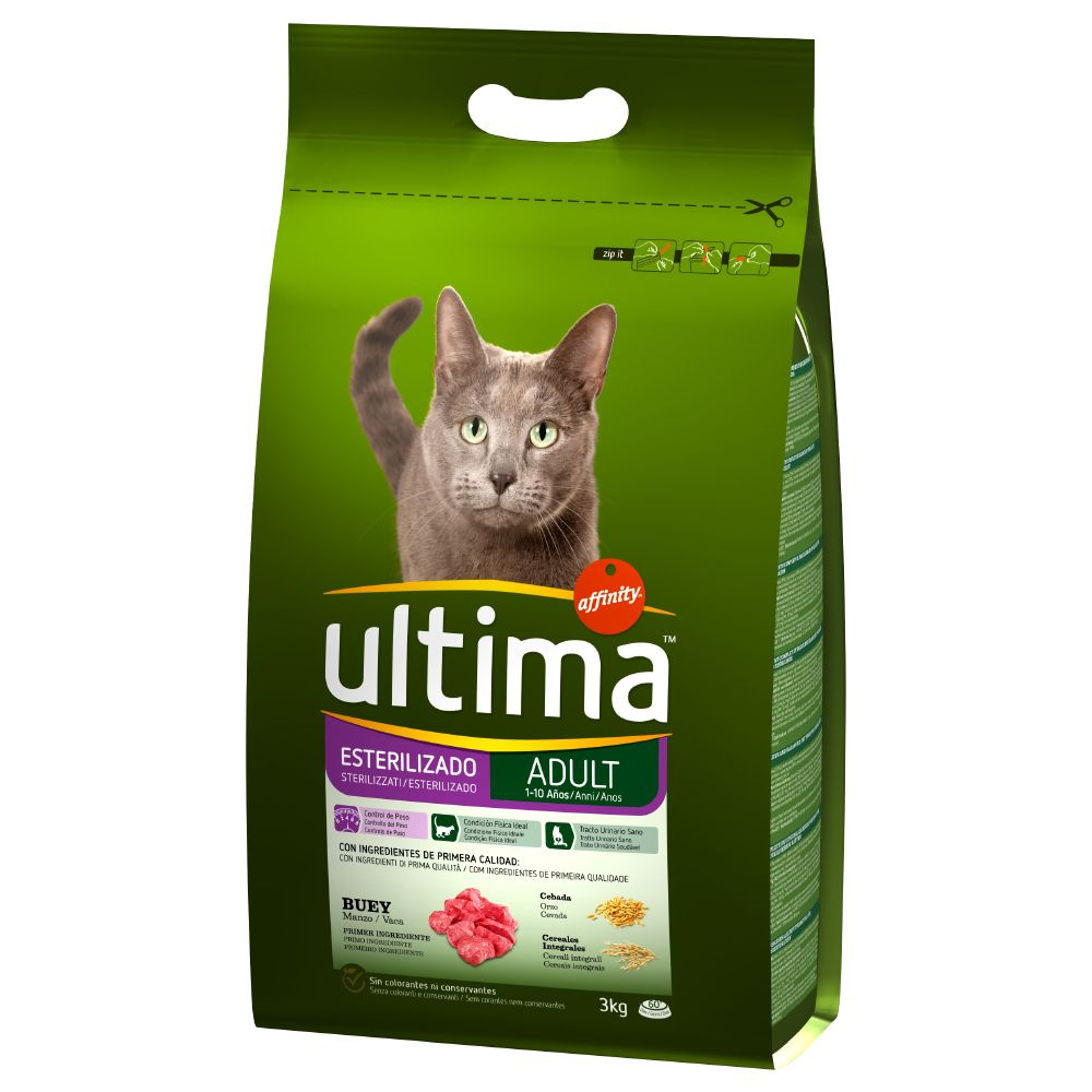 Ultima Adult Sterilised Beef & Barley