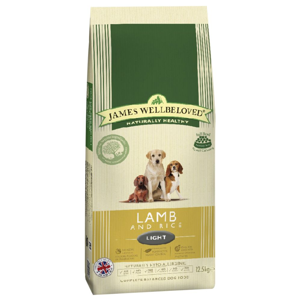 James Wellbeloved Light Lamb & Rice - Ekonomipack: 2 x 12,5 kg