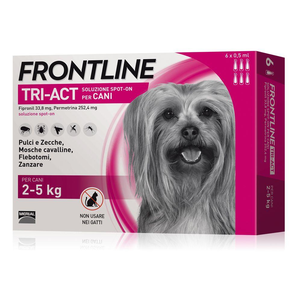 Image of Frontline Tri-Act soluzione spot-on per cani 2-5 kg - 3 pipette (0,5 ml)