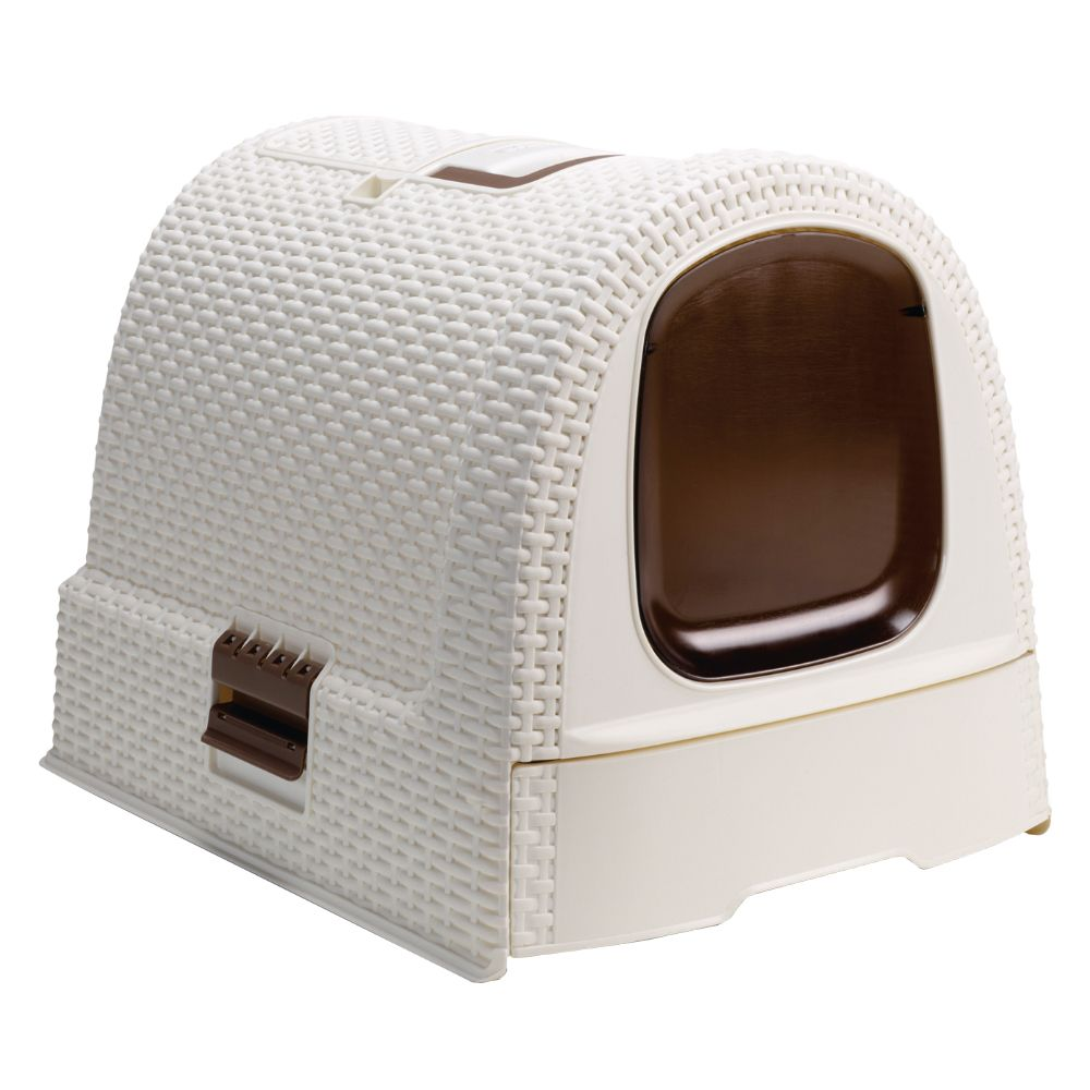 Curver Cat Litter Tray - Mocha