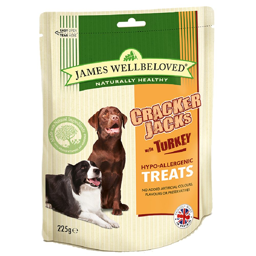 James Wellbeloved CrackerJacks Dog Treats Turkey
