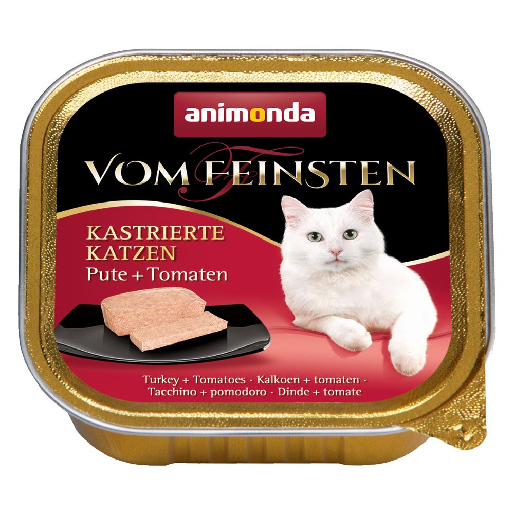 Animonda vom Feinsten för kastrerade katter 6 x 100 g - Kalkon & ost