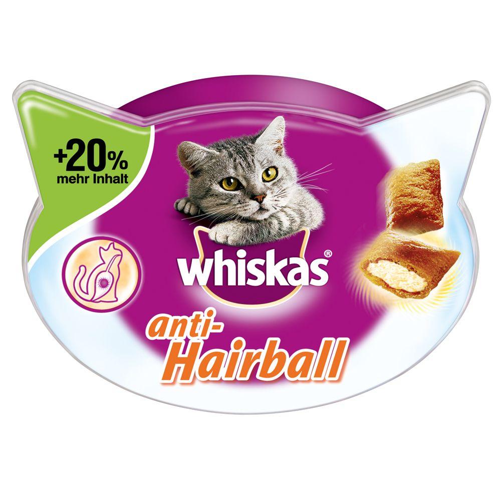 Whiskas Anti-Hairball + 20 % mer innehåll - Ekonomipack: 6 x 72 g
