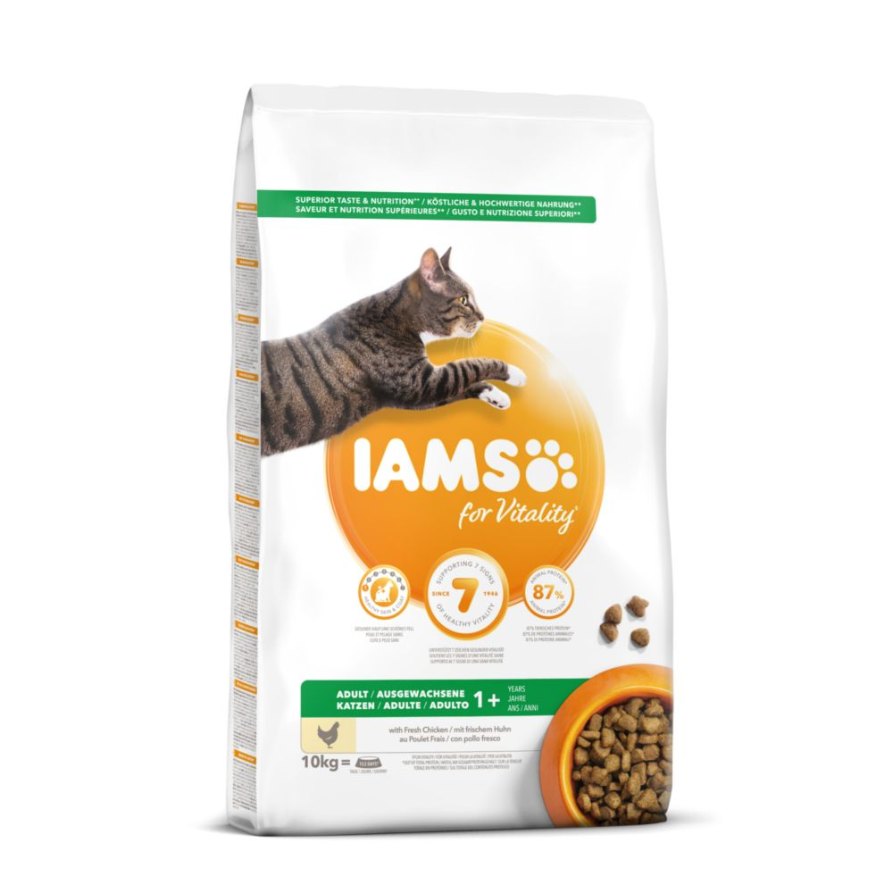 2 x 10kg Iams Proactive Health Kitten & Junior Chicken Dry Food