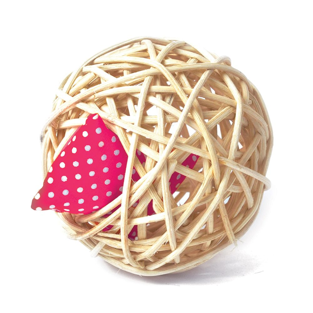 Aumuller Mini Valerian Rattan Ball Cat Toy