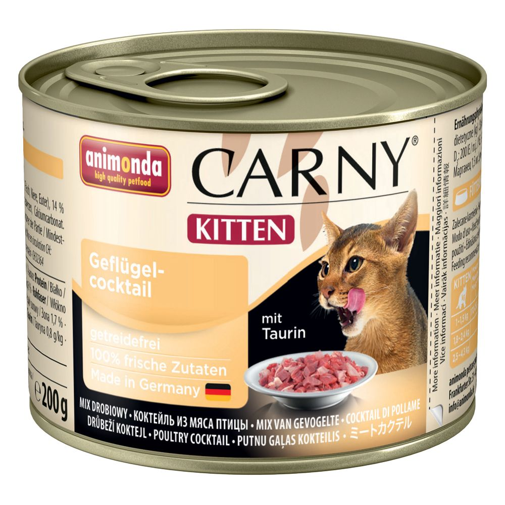 Animonda Carny Kitten 6 x 200g - Beef, Veal & Chicken